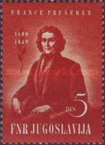 [The 100th Anniversary of the Death of Franc Presheren, 1800-1849, Typ YB]