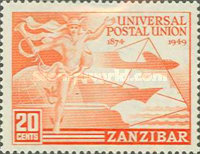 [The 75th Anniversary of the Universal Postal Union, type AT]