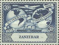 [The 75th Anniversary of the Universal Postal Union, type AU]
