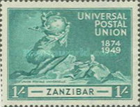 [The 75th Anniversary of the Universal Postal Union, type AW]