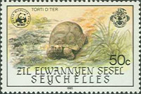 [World Wildlife Fund - Giant Tortoise of Aldabra, type M]