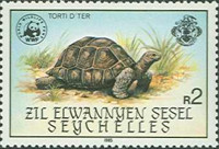 [World Wildlife Fund - Giant Tortoise of Aldabra, type P]