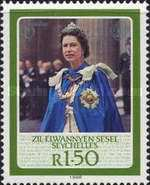 [The 60th Anniversary of the Birth of H.R.M. The Queen Elizabeth II, type W]