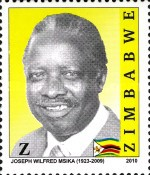 [The 1st Anniversary of the Death of Joseph Wilfred Msika, 1923-2009, type AAV]