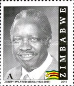 [The 1st Anniversary of the Death of Joseph Wilfred Msika, 1923-2009, type AAV1]