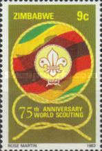 [The 75th Anniversary of Boy Scout Movement, type AJ]