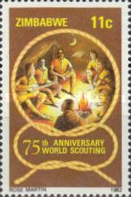 [The 75th Anniversary of Boy Scout Movement, type AK]