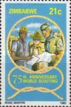 [The 75th Anniversary of Boy Scout Movement, type AL]