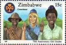[The 75th Anniversary of Girl Guides Association of Zimbabwe, type EE]