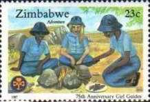 [The 75th Anniversary of Girl Guides Association of Zimbabwe, type EF]