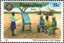 [The 75th Anniversary of Girl Guides Association of Zimbabwe, type EG]