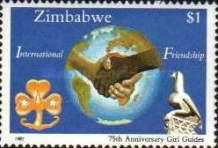 [The 75th Anniversary of Girl Guides Association of Zimbabwe, type EH]