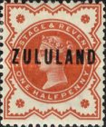 """[Great Britian Postage Stamps Overprinted """"ZULULAND"""", type B]"""