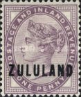 """[Great Britian Postage Stamps Overprinted """"ZULULAND"""", type B1]"""