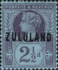 """[Great Britian Postage Stamps Overprinted """"ZULULAND"""", type B3]"""