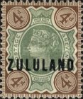 """[Great Britian Postage Stamps Overprinted """"ZULULAND"""", type B5]"""