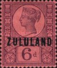 """[Great Britian Postage Stamps Overprinted """"ZULULAND"""", type B7]"""
