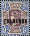 """[Great Britian Postage Stamps Overprinted """"ZULULAND"""", type B8]"""
