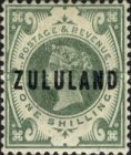 """[Great Britian Postage Stamps Overprinted """"ZULULAND"""", type B9]"""