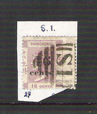 [No. 17 Surcharged, type B]
